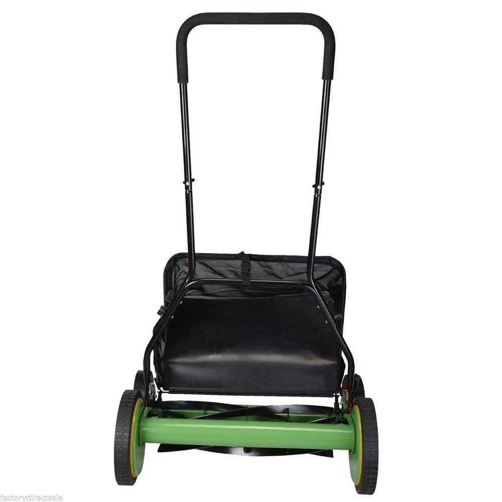 "Hot Height 20""Adjustable Classic Hand Push Lawn Mower Reel Mower Grass Catcher"