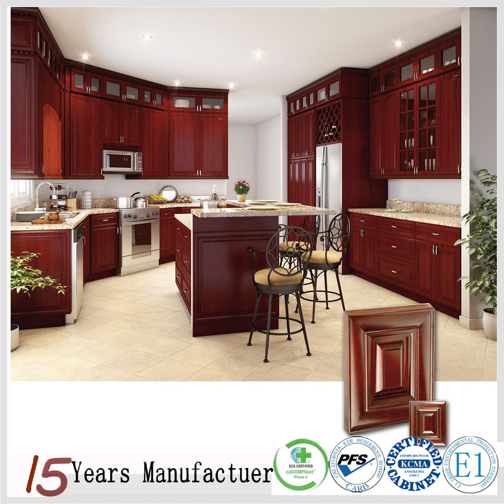Chinese Flat Pack Mahogany Kitchen Cabinet Doors Solid Wood Product