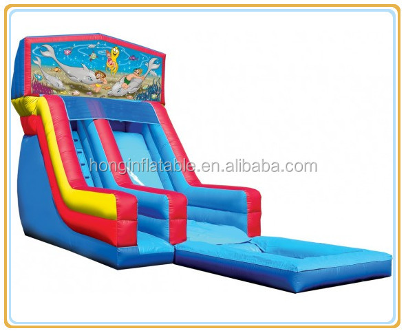 alibaba wholesale inflatable water slide, inflatable little mermaid slide with swimming pool