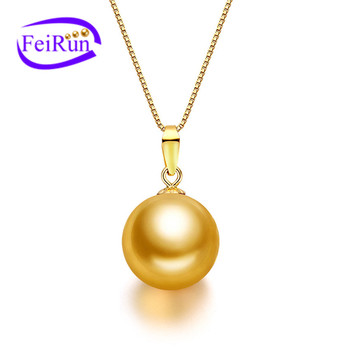 12mm large round dyed color natural freshwater simple design golden 12mm large round dyed color natural freshwater simple design golden pearl pendant mozeypictures Images