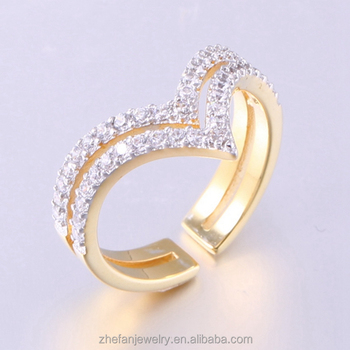Latest Designs Ring Gold Plating Wedding Rings