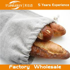Wholesale 100% Pure Reusable Rustic Rough eco-friendly custom linen Baguettes bags bread bags with French Interior Seams