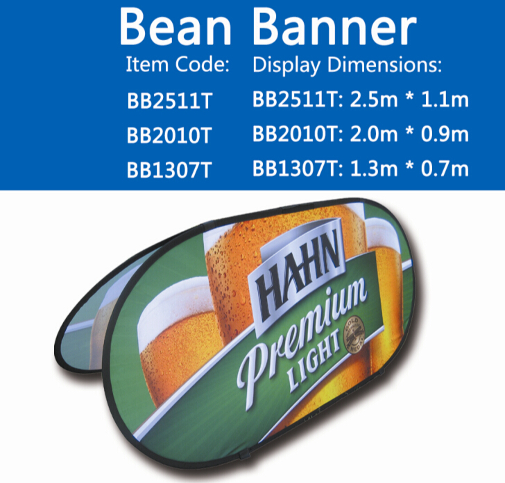 2019 hot sale promotional  adverting easy to foldable Outdoor Double Side Printed Pop Up Banners And Signs
