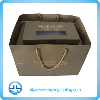 Brown Paper Bag Both sides colour printing medium sized packaging paper bag