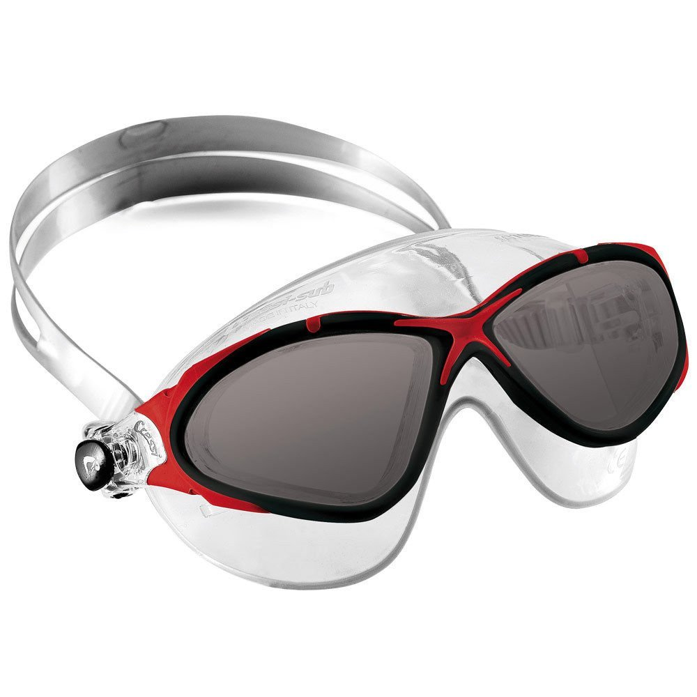 baaf04b807d Cressi Saturn Crystal Mask UV Protective Silicone Swim Goggles Red w Tinted  Lens