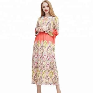 2098f06f635b5 Winter printed modal cotton beauty nighty women luxurious pregnant dress  nightwear long sleeve large size nightgowns