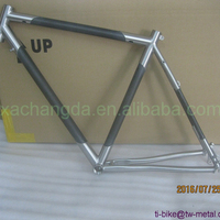 Carbon Bicycle Frame with Post Mouth Brake Custom Titanium Bike Frames Mixed Carbon+Titanium Bicycle Frames