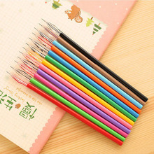 Yiwu factory wholesale color creative office learning supplies 0.38mm gel ink pen refill