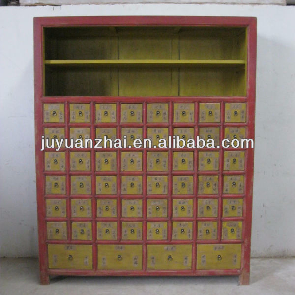 Antique Chinese Medicine Cabinet With