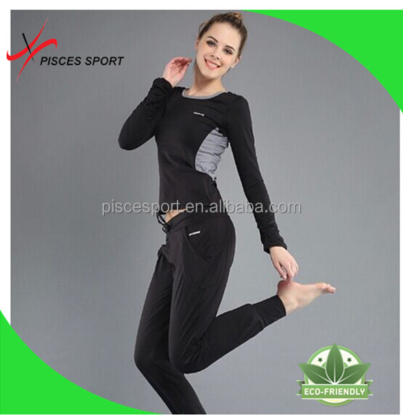 top quality latest design crane yoga sports wear costumes