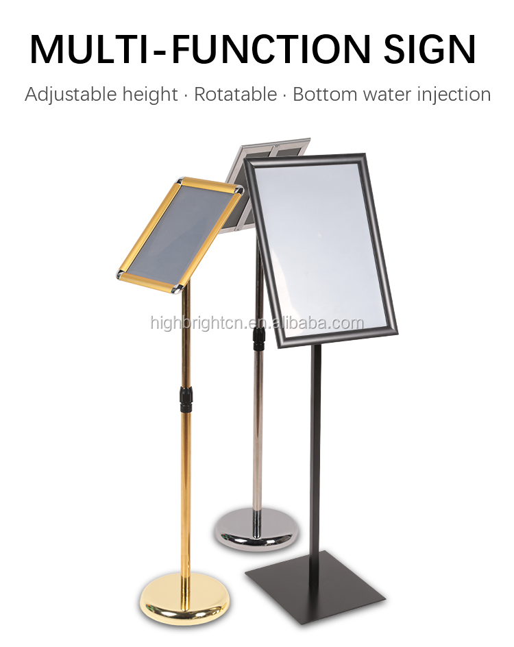 A4 Magnetic Floor Stand Adjustable Height Custom Sign Menu Poster Sign Holder