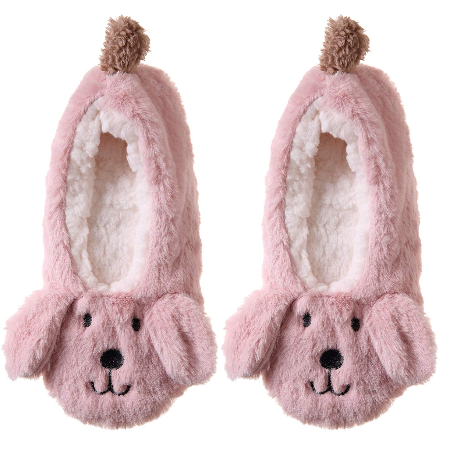 Dosoni Women Cartoon Animal Super Soft Plush Faux Fur Indoor Fuzzy Winter Slippers