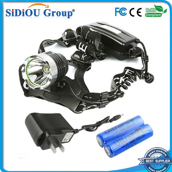 3 Mode 1600 Lumens XML T6 LED Headlamp Head Torch Flashlight