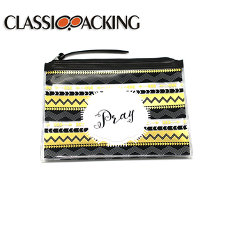 Most popular pvc/eva cosmetic bag with zipper waterproof Eco-friendly glossy zipper bag