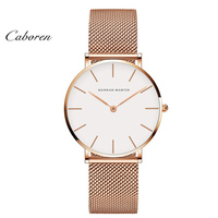 2019 Fashion OEM ultrathin mesh band simple elegance stainless steel watch rose gold reloj de cuarzo dw watch