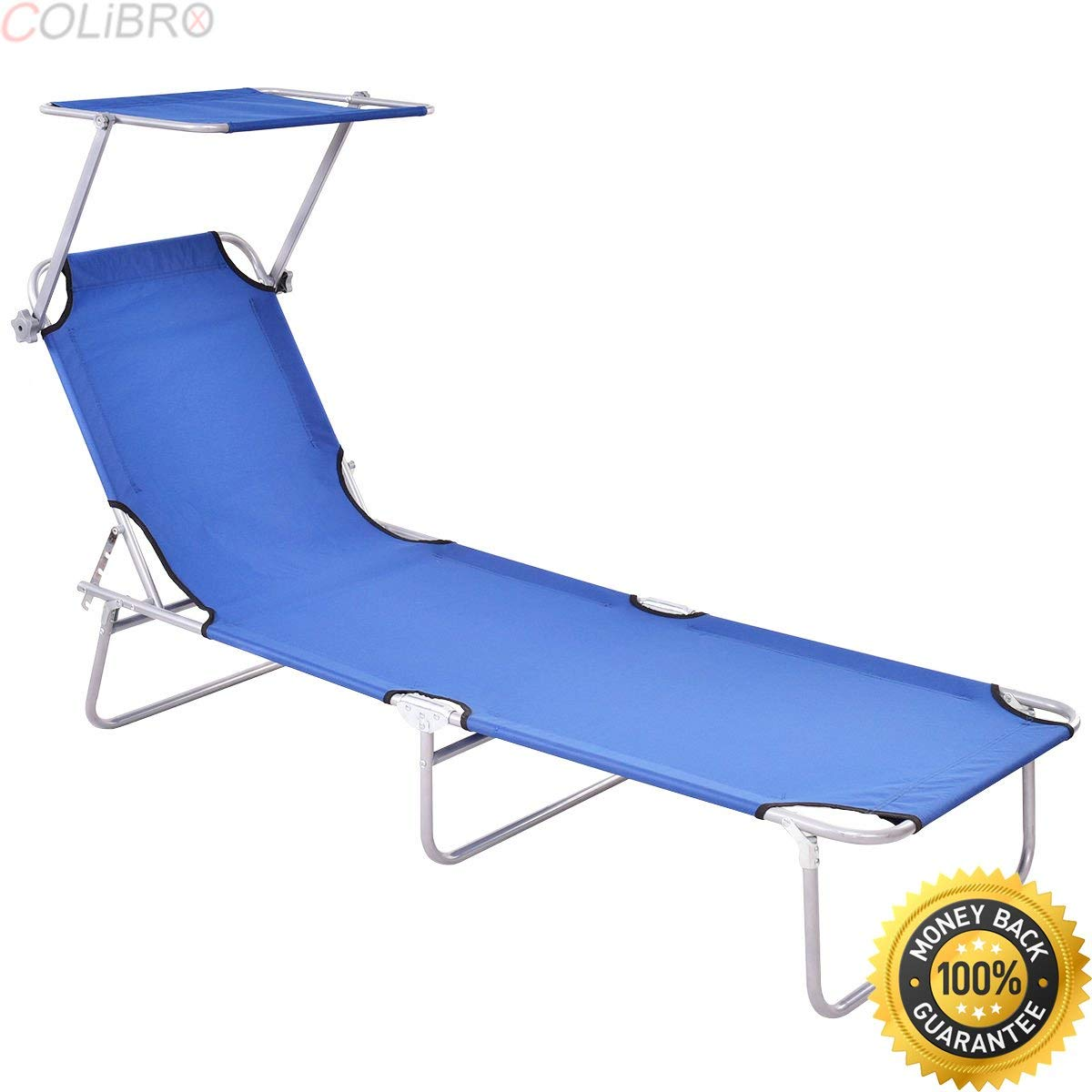 Get Quotations Colibrox Sun Lounge Bed Chair Beach Recliner Garden Patio Pool Seat Back Relaxer Foldable