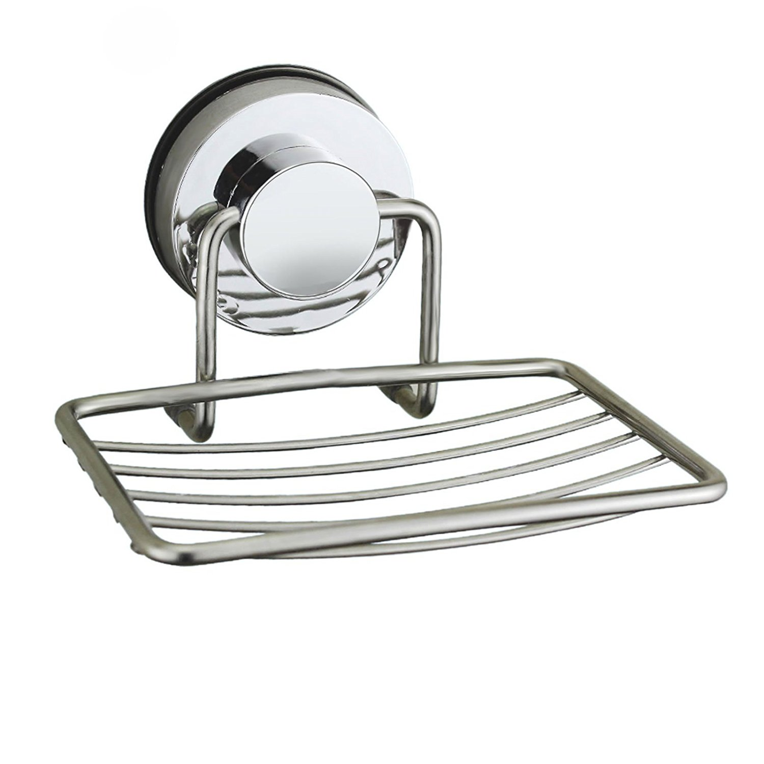 Generic Soap Tray Soap Holder Soap Dish Soap Basket Strong Suction Wall Mount Bathroom Soap Holder Tray Electroplating