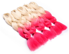 "80"" two tone color braids xpression synthetic hair"