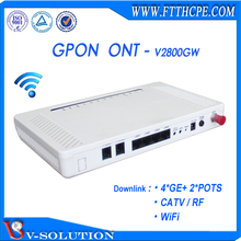 4LAN+2POTS+WiFi+RF GPON ONU/ONT Wireless Router VoIP Gateway FTTH WiFi Modem CATV Receiver for Triple Play Service