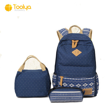 ad1046d5c049 China canvas printing college student backpack girls book bag wholesale  school bags for teenagers