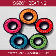 OEM any logo design colorful cover roller skate Wheel 608zz bearing