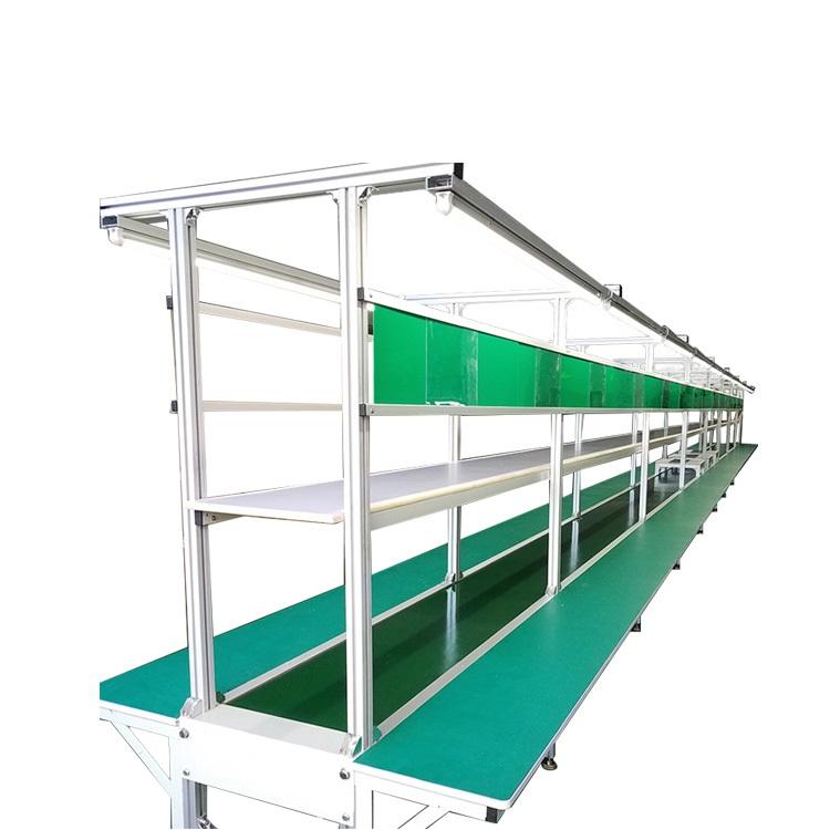 2018 LED Light TV Assembly Line PVC Belt Conveyor Production Assembly Line