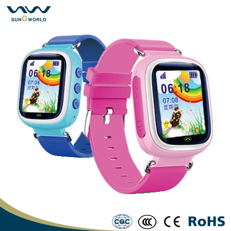 High quality Emergency GPS Tracker Safety wechat voice talk kids cell phone watch