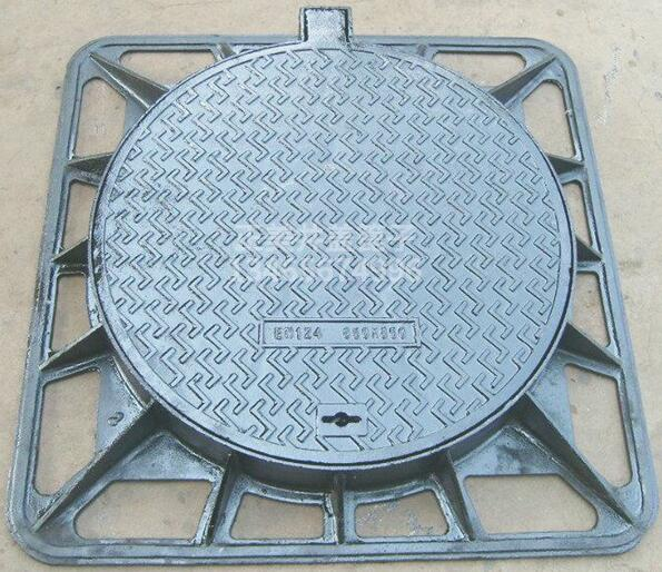 EURO standard High Quality Square and Round Ductile Cast <strong>Iron</strong> Manhole Cover EN124 -2 D400 dia 800 ductile <strong>iron</strong> casting manhole