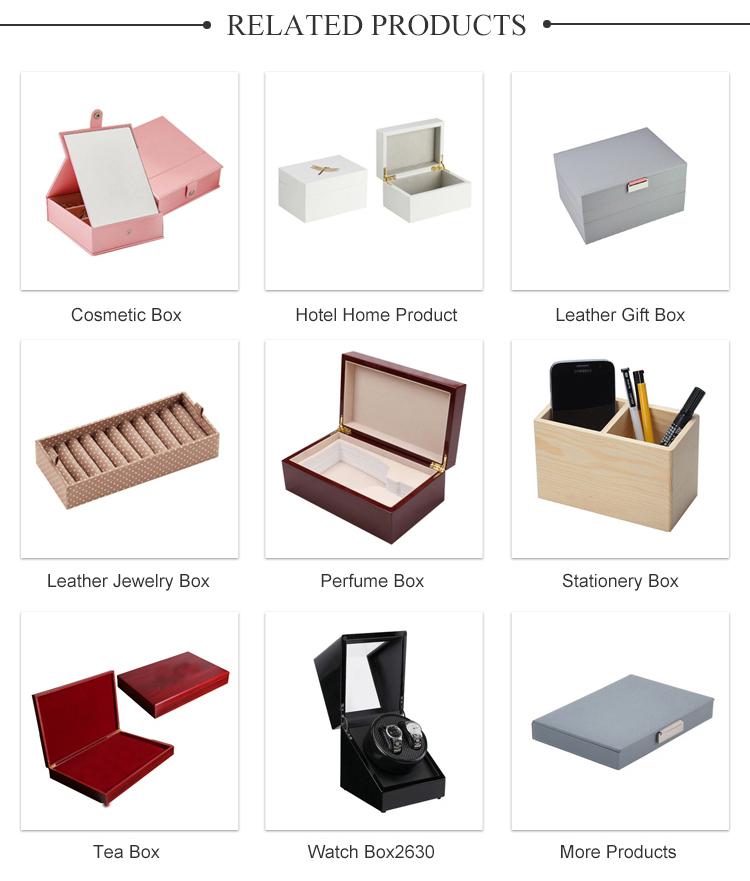 Elegante Hoge Kwaliteit Pu Lederen Gift Gebruikt Reizen Kleine Sieraden Doos Lederen Opslag Draagbare Case Met Gouden Rits