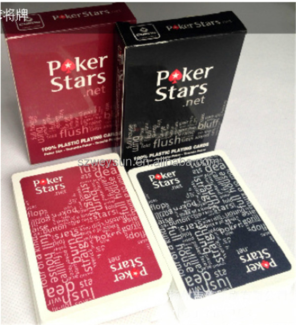 Texas Holdem Plastic playing card game poker cards Waterproof and dull polish poker star Board games