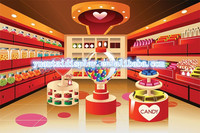 Mordern design interior furniture for candy redials store