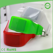 Creative design multiple colors waterproof digital silicone led watch