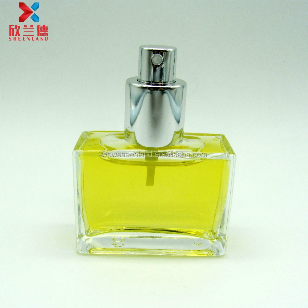 Personal Care 30ml clear french square glass perfume bottle with <strong>spray</strong>