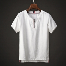 OEM high quality wholesale cheapest roundneck curve men t shirt with zipper