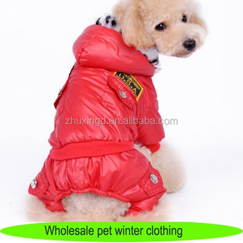 European wholesale pet clothing, personalized dog jumpsuits clothes with fur