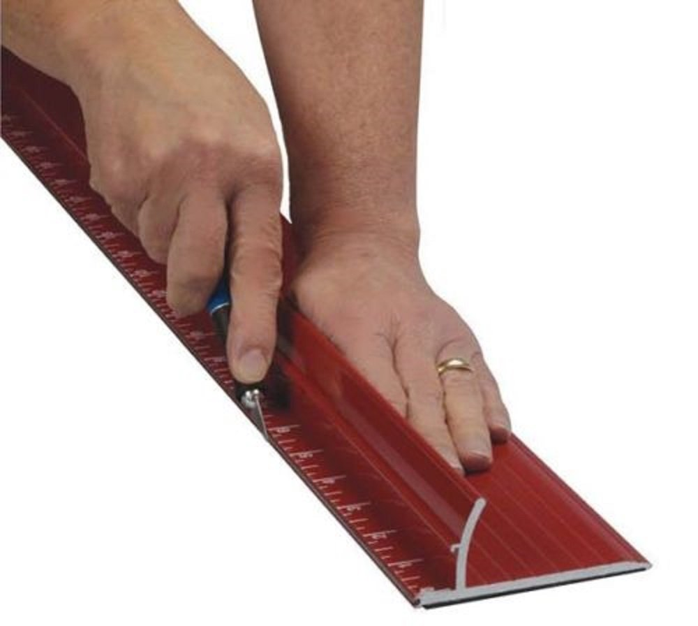 """New 52"""" Non-skid Rhino Steel Edge Safety Ruler for Straight & Safe Cut, heavy duty from SpeedPress"""