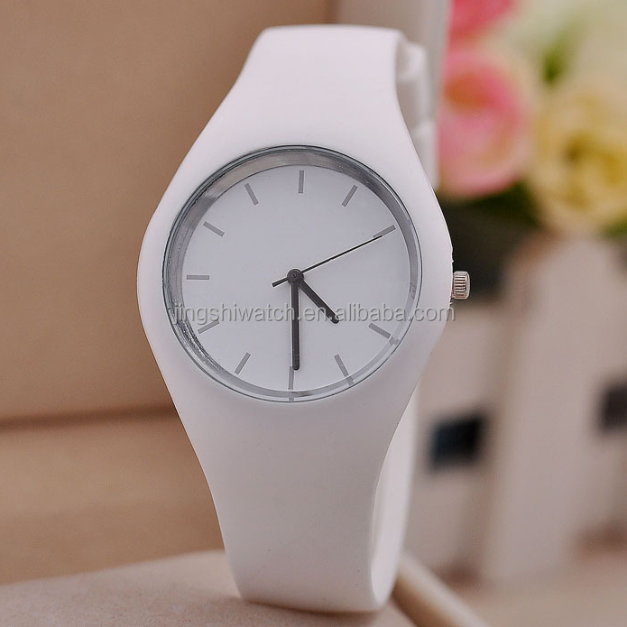 New Arrival SKMEI Brand Women Colorful Jelly Watch Men Silicone Band Quartz Watch