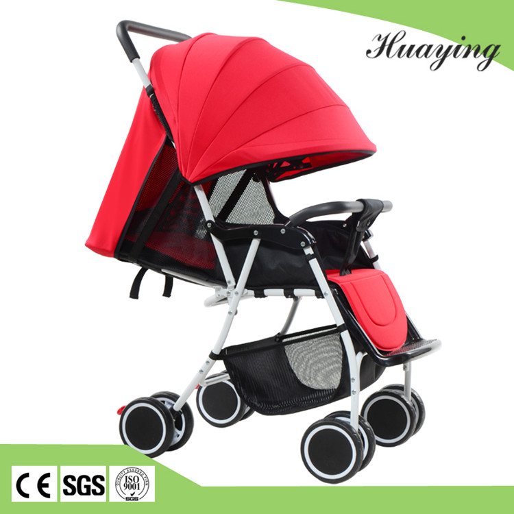 Portable one hand folding cotton lycrar lying baby time stroller carrier