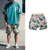 2019 Europe America popular custom fashion branded loose flower print mens sweat swim harem shorts hip hop clothing wholesale