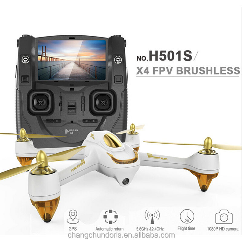 H501S Hubsan X4 Drone 5.8G FPV GPS Brushless motor rc quadcopter follow me mode With HD 1080P Camera