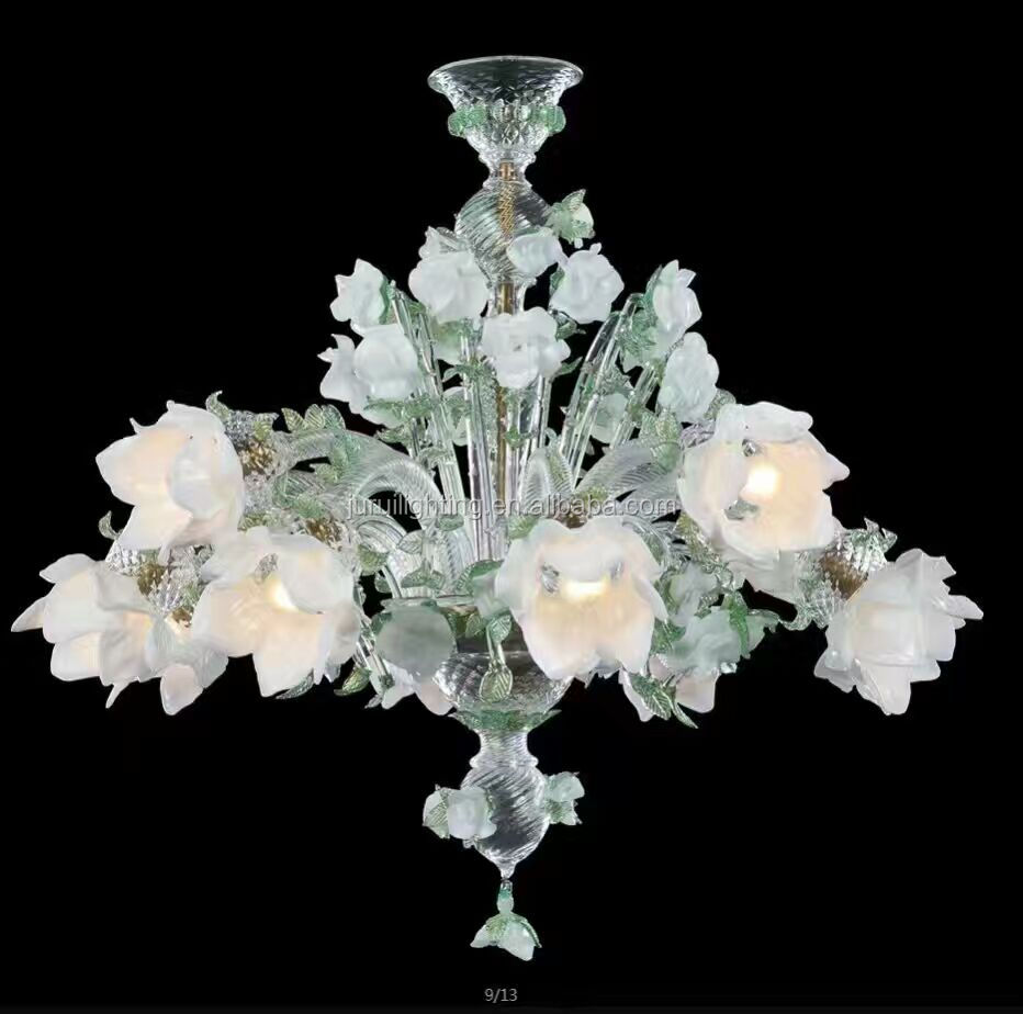 Hand blown glass flower chandelier wholesale flower chandelier hand blown glass flower chandelier wholesale flower chandelier suppliers alibaba arubaitofo Image collections