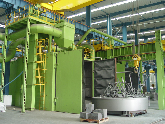 Q35 Turntable shot blasting machinery for cleaning and intensifying surface