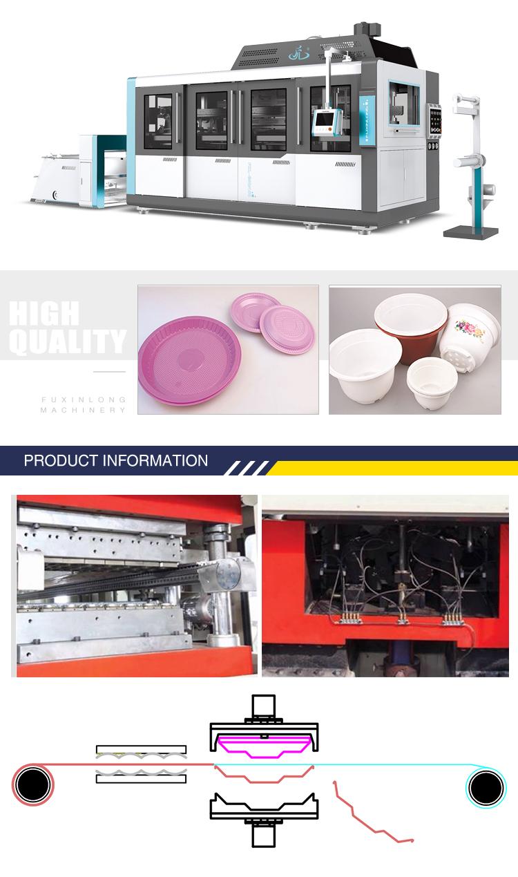 Cristal copo de plástico preço da máquina, máquina do copo de formação, pet copo dá forma à máquina