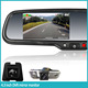 car two ways record DVR rear view mirror with car camera and parking sensor