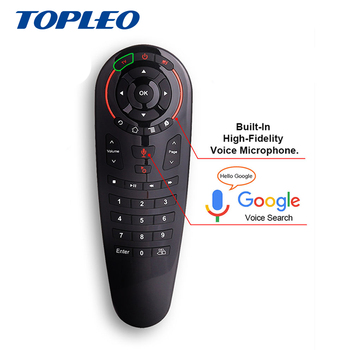 Topleo Professional design G30 Wireless 2.4g air mouse google voice keyboard remote control