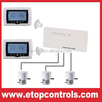 wireless central control thermostats for multi water. Black Bedroom Furniture Sets. Home Design Ideas