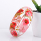 Latest Transparent glass glass Pressed Real resin bangles