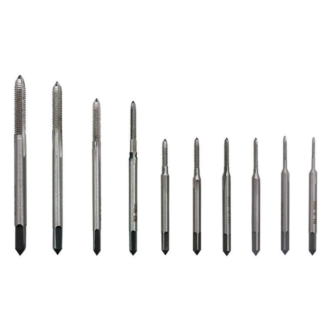 Nesee 10pcs/lot Hand Tap Thread Wire Tapping Threading Taps Attack Drill Bits Repair Tools