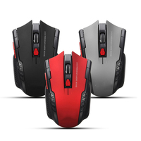 2019 Hot Sale 6 Buttons Ergonomic wireless 2.4G Portable Gaming Optical Mouse For Desktop Notebook Laptop Computer
