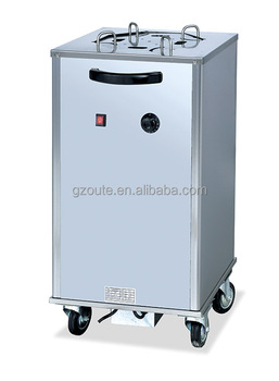 Commercial Kitchen Equipment Electric Plate Warmer Cart